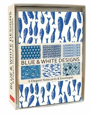 Blue and White Note Cards: 6 Blank Note Cards and Envelopes by Tuttle Editors