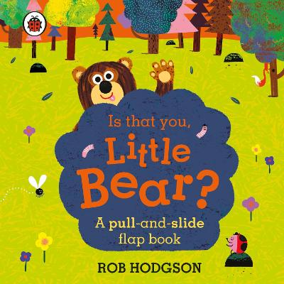 Is that you, Little Bear?: A pull-and-slide flap book by Rob Hodgson