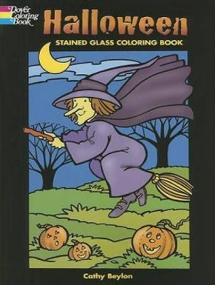 Halloween Stained Glass Coloring Book book