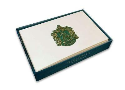 Harry Potter: Slytherin Foil Note Cards (Set Of 10) by Insight Editions