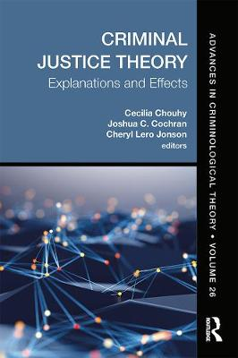Criminal Justice Theory, Volume 26: Explanations and Effects by Cecilia Chouhy