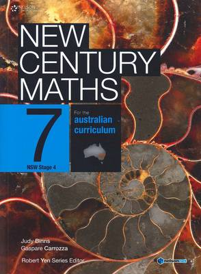 New Century Maths 7 for the Australian Curriculum NSW Stage 4 (Student  Book with 4 Access Codes) by Judy Binns
