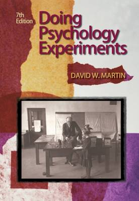 Doing Psychology Experiments by David W. Martin