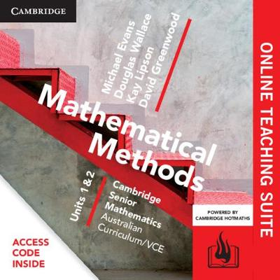 CSM VCE Mathematical Methods Units 1 and 2 Online Teaching Suite (Card) by Michael Evans