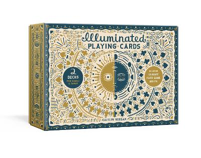 Illuminated Playing Card Set: Two Decks with Game Rules book