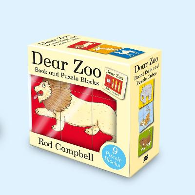 Dear Zoo Book and Puzzle Blocks by Rod Campbell