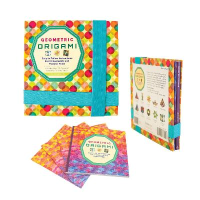 Geometric Origami Kit: Easy to Follow Instructions For 10 Geometric and Modular Folds-Includes Over 70 Pieces of Beautiful Folding Paper by Nick Robinson