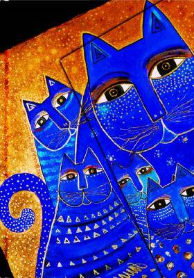 Laurel Burch, Med Cats, Mini, Lin by Paperblanks Book Company