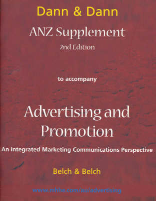 ANZ Supplement to Accompany Advertising and Promotion by Stephen Dann
