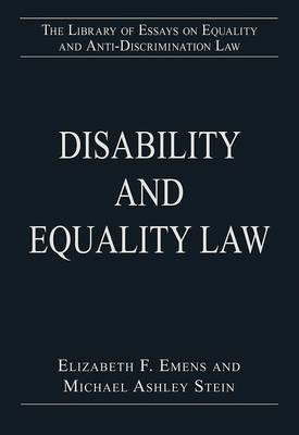 Disability and Equality Law by Elizabeth Emens
