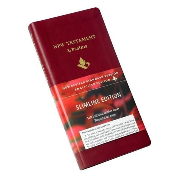 NRSV New Testament and Psalms NR012:NP burgundy imitation leather by
