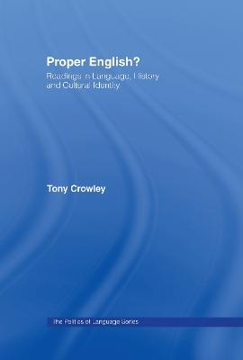 Proper English? by Tony Crowley