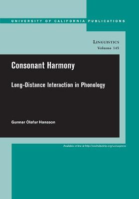 Consonant Harmony by Gunnar Olafur Hansson