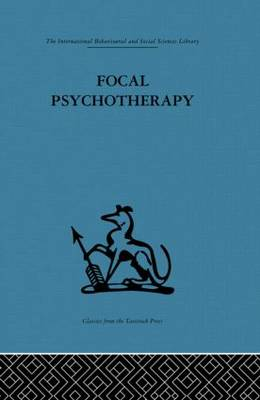 Focal Psychotherapy by Michael Balint