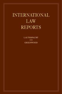 International Law Reports: Volume 148 by Elihu Lauterpacht
