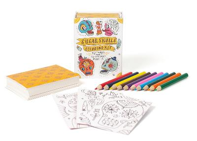 Sugar Skulls Coloring Kit by Running Press