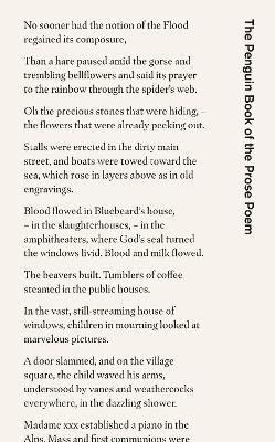Penguin Book of the Prose Poem by Jeremy Noel-Tod