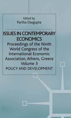 Issues in Contemporary Economics by Partha Dasgupta