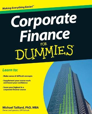 Corporate Finance for Dummies by Michael Taillard