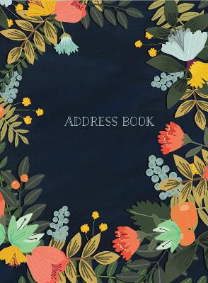 Address Book - Modern Floral Small by Mia Charro