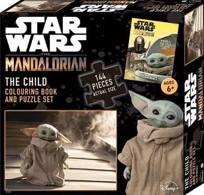 Star Wars The Mandalorian: The Child Colouring Book and Puzzle Set by Star Wars