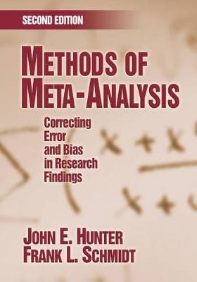 Methods of Meta-Analysis by John E. Hunter