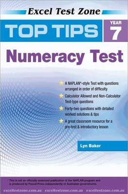 Excel Top Tips for Year 7 Numeracy Test by