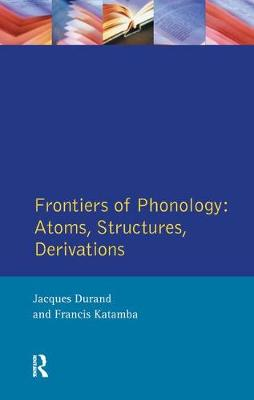 Frontiers of Phonology book