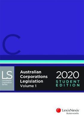 Australian Corporations Legislation 2020 - Student Edition book