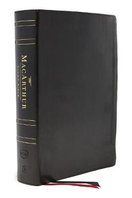 NKJV, MacArthur Study Bible, 2nd Edition, Genuine Leather, Black, Thumb-indexed, Comfort Print: Unleashing God's Truth One Verse at a Time by John F. MacArthur