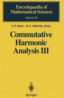 Commutative Harmonic Analysis III by Viktor Petrovich Khavin