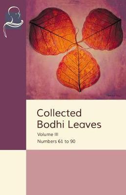 Collected Bodhi Leaves Volume III by Pariyatti Publishing