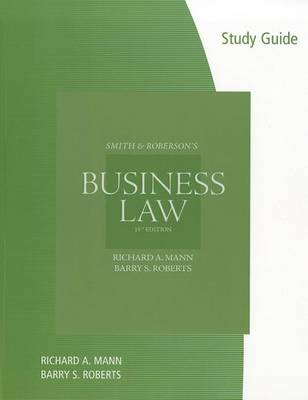 Smith & Roberson's Business Law by Richard A Mann