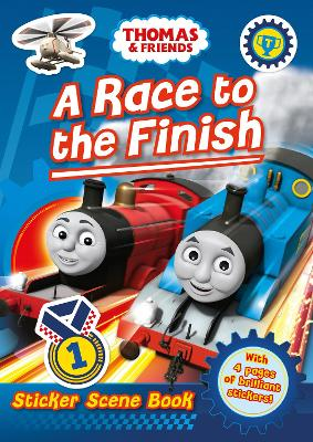Thomas and Friends: A Race to the Finish (Sticker Scene Book) by
