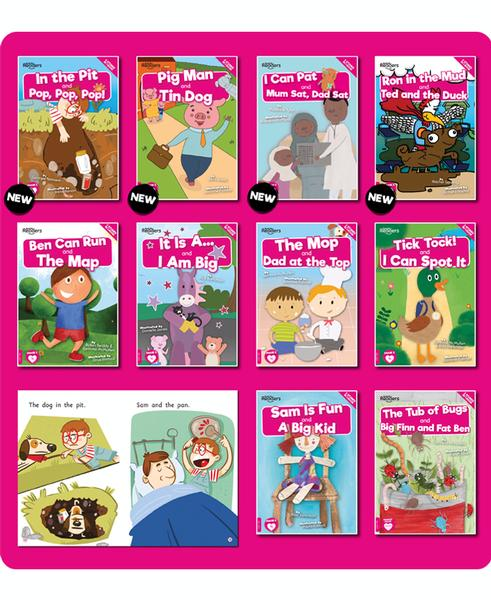 BookLife Decodable Readers Level 1 Pink Set of 6 book