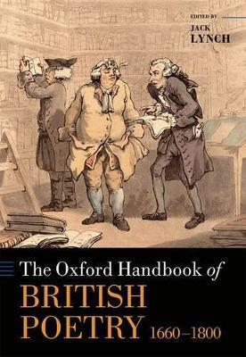 The Oxford Handbook of British Poetry, 1660-1800 book
