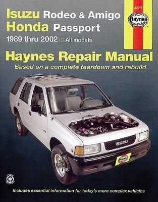 Isuzu Rodeo and Amigo, Honda Passport book