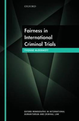 Fairness in International Criminal Trials book