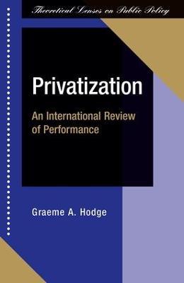 Privatization by Graeme Hodge