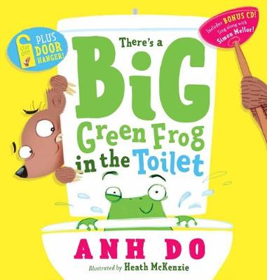 There's a Big Green Frog in the Toilet + CD with Door Hanger book
