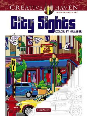 Creative Haven City Sights Color By Number by George Toufexis