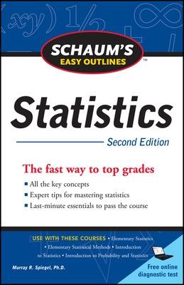 Schaum's Easy Outline of Statistics, Second Edition by David Lindstrom