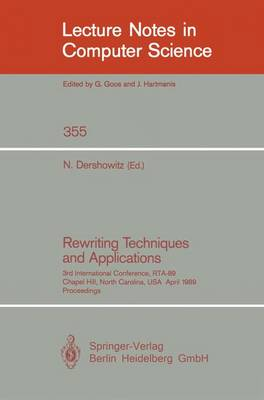 Rewriting Techniques and Applications book
