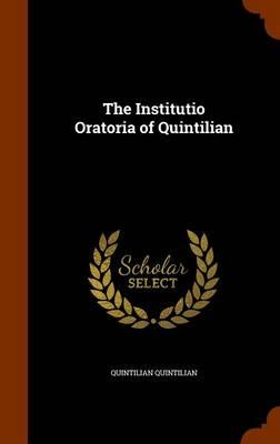 Institutio Oratoria of Quintilian book