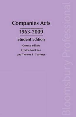 Companies Acts 1963-2009: Student Edition: 2009 by Lyndon MacCann