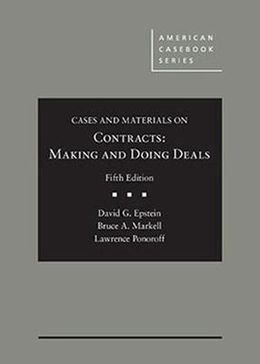 Cases and Materials on Contracts, Making and Doing Deals - CasebookPlus by David Epstein