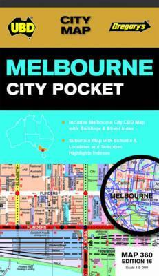 Melbourne City Pocket Map 360 16th ed by UBD Gregorys