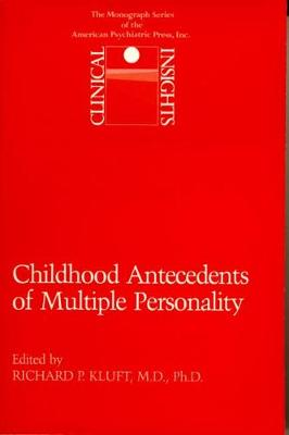 Childhood Antecedents of Multiple Personality Disorders book