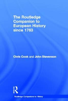 Routledge Companion to Modern European History since 1763 book