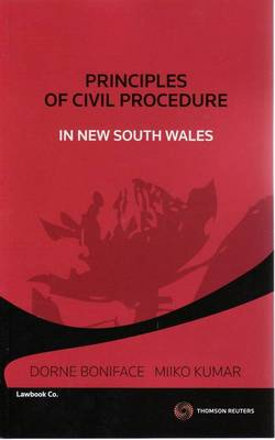 Principles of Civil Procedure in NSW by Boniface